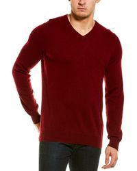 NAADAM Cashmere V-neck Pullover - Red