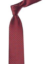 Brioni Red Layered Dot Silk Tie