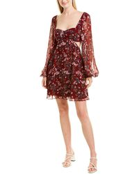 Fame & Partners Fame And Partners Mini Dress - Red