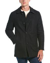 Hart Schaffner Marx Barcelona Wool-blend Coat - Black