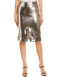 Ganni Sequin Skirt - Metallic