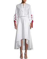 White Story - Blouson Midi Dress - Lyst