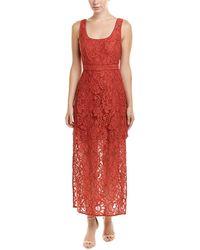 BCBGMAXAZRIA Lace Midi Dress - Red