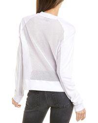Monrow Mesh Mix Sweatshirt - White