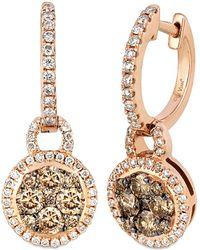Le Vian - ® Chocolatier® 14k Rose Gold 0.96 Ct. Tw. Diamond Hoops - Lyst
