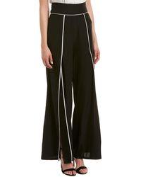 Nicole Miller - Artelier Silk-blend Pant - Lyst