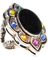 Gucci Alchemist Crystal Cocktail Ring - Multicolour