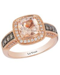 Le Vian ? Chocolatier? 14k Strawberry Gold? 1.33 Ct. Tw. Diamond & Morganite Ring - Metallic