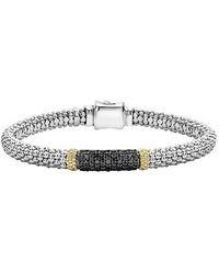 Lagos Caviar Lux 18k & Silver 0.70 Ct. Tw. Diamond Bracelet - Metallic