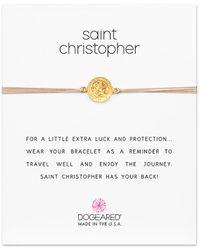 Dogeared - Saint 14k Over Silver Adjustable Bracelet - Lyst