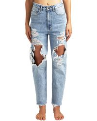 Ksubi Chlo Wasted Bust A Cap Relaxed High-rise Ankle Cut - Blue
