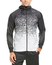 Oakley Enhance Wind Hoodie Graphic Jacket - Black