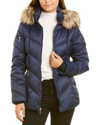 Nautica Short Quilted Coat - Blue