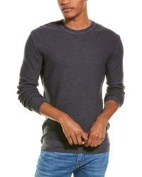 Stone Rose Honeycomb Wool Crewneck Sweater - Grey