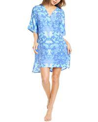 N Natori Oasis Challis Sleep Shirt - Blue