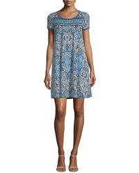 Max Studio Printed Dress - Blue