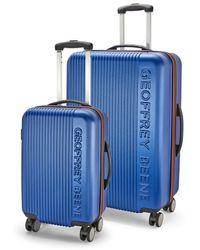Geoffrey Beene Debossed Logo Hardside 2pc Luggage Set - Blue