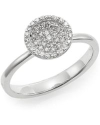 Effy - Fine Jewelry 14k 0.22 Ct. Tw. Diamond Disc Ring - Lyst