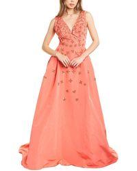 Carolina Herrera Embellished A-line Silk Gown - Pink