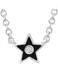 EF Collection - 14k Diamond & Enamel Star Necklace - Lyst