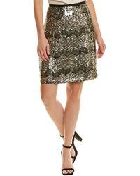 Elie Tahari Mini Skirt - Metallic