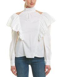 Jill Stuart Silk Top - White