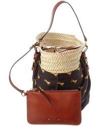 Chloé Panier Medium Raffia Bucket Bag - Multicolor