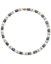 Belpearl 14k 8-9mm Freshwater Pearl Necklace - Metallic