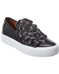 See By Chloé Leather Slip-on Sneaker - Black
