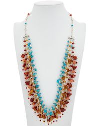 Stephen Dweck Multi Strand Silver Gemstone Necklace - Metallic