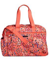 Vera Bradley Lighten Up Weekender Travel Bag - Red