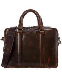 Robert Graham Mantalos Leather Briefcase - Brown