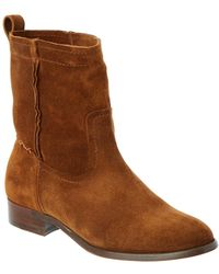 Frye - Women's Cara Suede Short Boot - Lyst