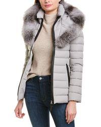 Mackage Kadalina Leather-trim Down Jacket - Gray