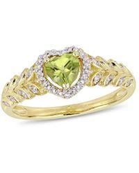 Rina Limor - 10k 0.56 Ct. Tw. Diamond & Peridot Ring - Lyst