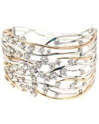 Diana M. Jewels . Fine Jewellery 14k Two-tone 4.05 Ct. Tw. Diamond Bangle - Metallic