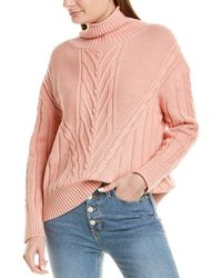 J.Crew Chunky Cable Turtleneck Sweater - Red
