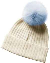 Phenix Cashmere Hat - Blue