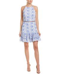 Keepsake Wild Things Sheath Dress - Blue