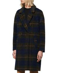 Marc New York Double-breasted Plaid Coat - Multicolour