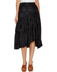Jill Stuart Laela Silk Skirt - Black