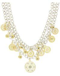 Sparkling Sage - Plated Crystal Bib Necklace - Lyst