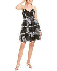 THEIA Love By Tiered Cocktail Dress - Black