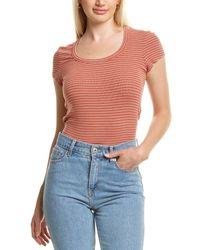 Bobi Round Neck T-shirt - Orange