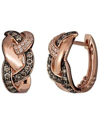 Le Vian 14k Rose Gold 0.60 Ct. Tw. Diamond Mini Hoops - Metallic