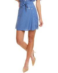 The East Order Plaid Mini Skirt - Blue