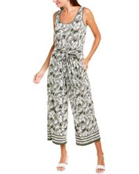 Max Studio Palm Print Jumpsuit - Multicolor