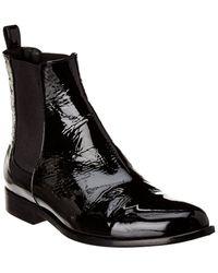 Theory Occiol Patent Chelsea Boot - Black