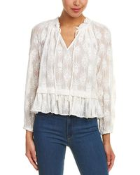 Rebecca Taylor - Selina Embroidered Silk Top - Lyst