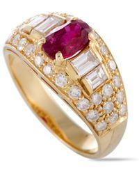BVLGARI Bulgari 18k 2.25 Ct. Tw. Diamond & Ruby Ring - Multicolor